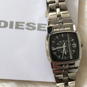 Diesel Women Silver Black Dial Watch DZ5229